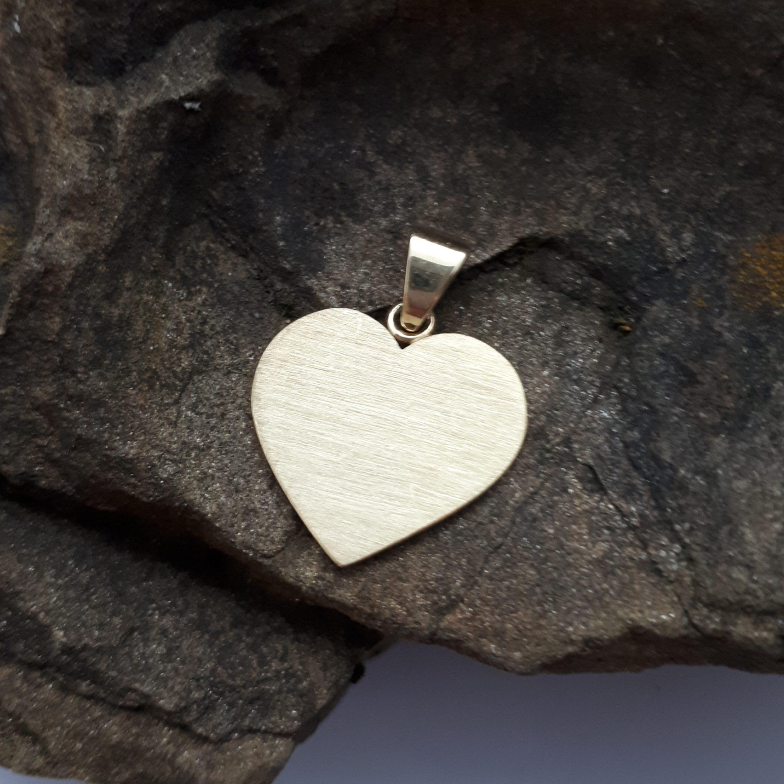 Herz aus Gold, Gold 585, geschliffen