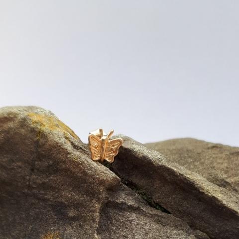 Ohrstecker Schmetterling, Gold, Juweliersware