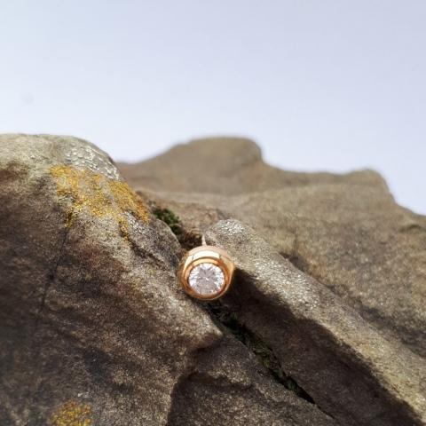 Diamantstecker Gold